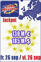 SPECIAL SUPERJACKPOT of 130 M euros in Euromillions