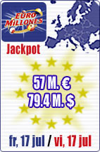 JACKPOT of 57 M euros in Euromillions