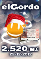 elGordo 2012 and 152 M euros in Euromillions